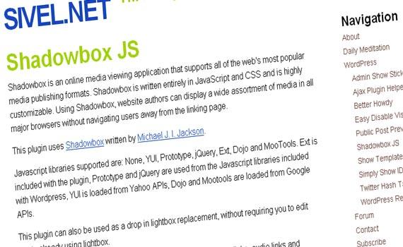 Shadowbox JS