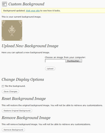 wordpress custom background
